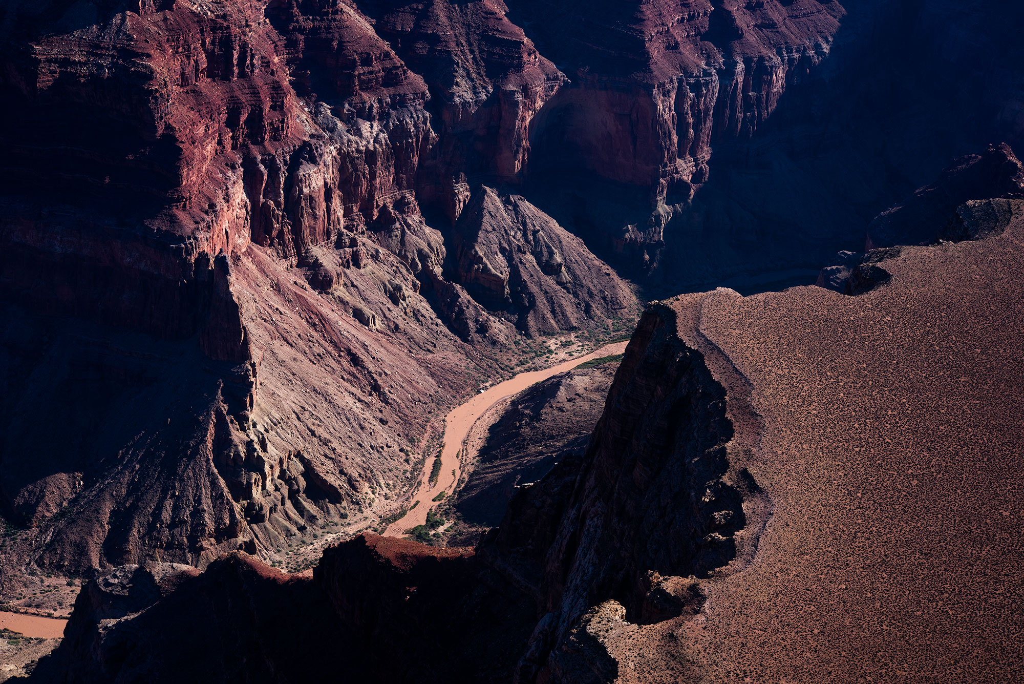 Fine art aerial photography of the Grand Canyon.