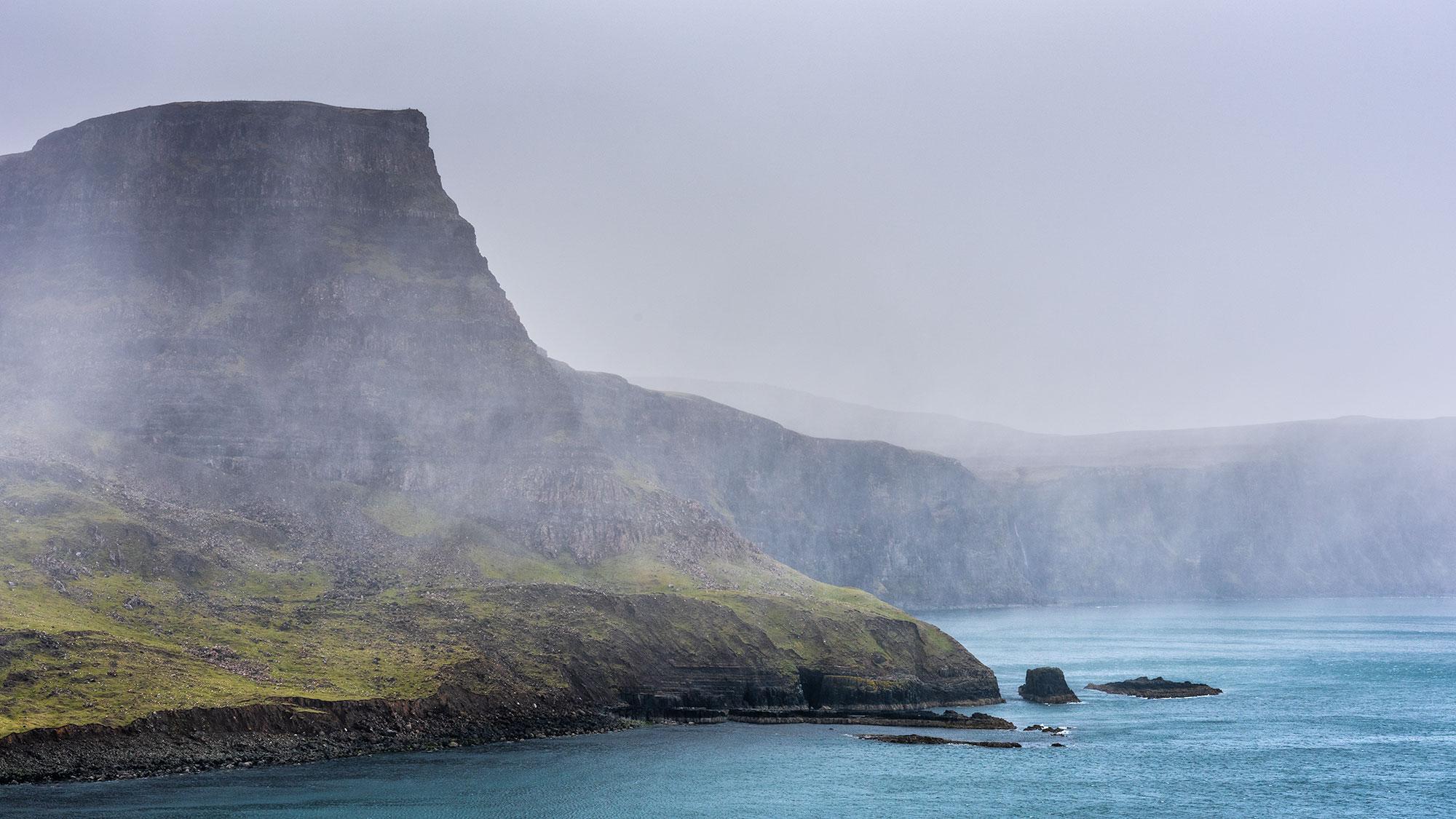 Photo depuis le phare de Neist Point sur l'Île de Skye.