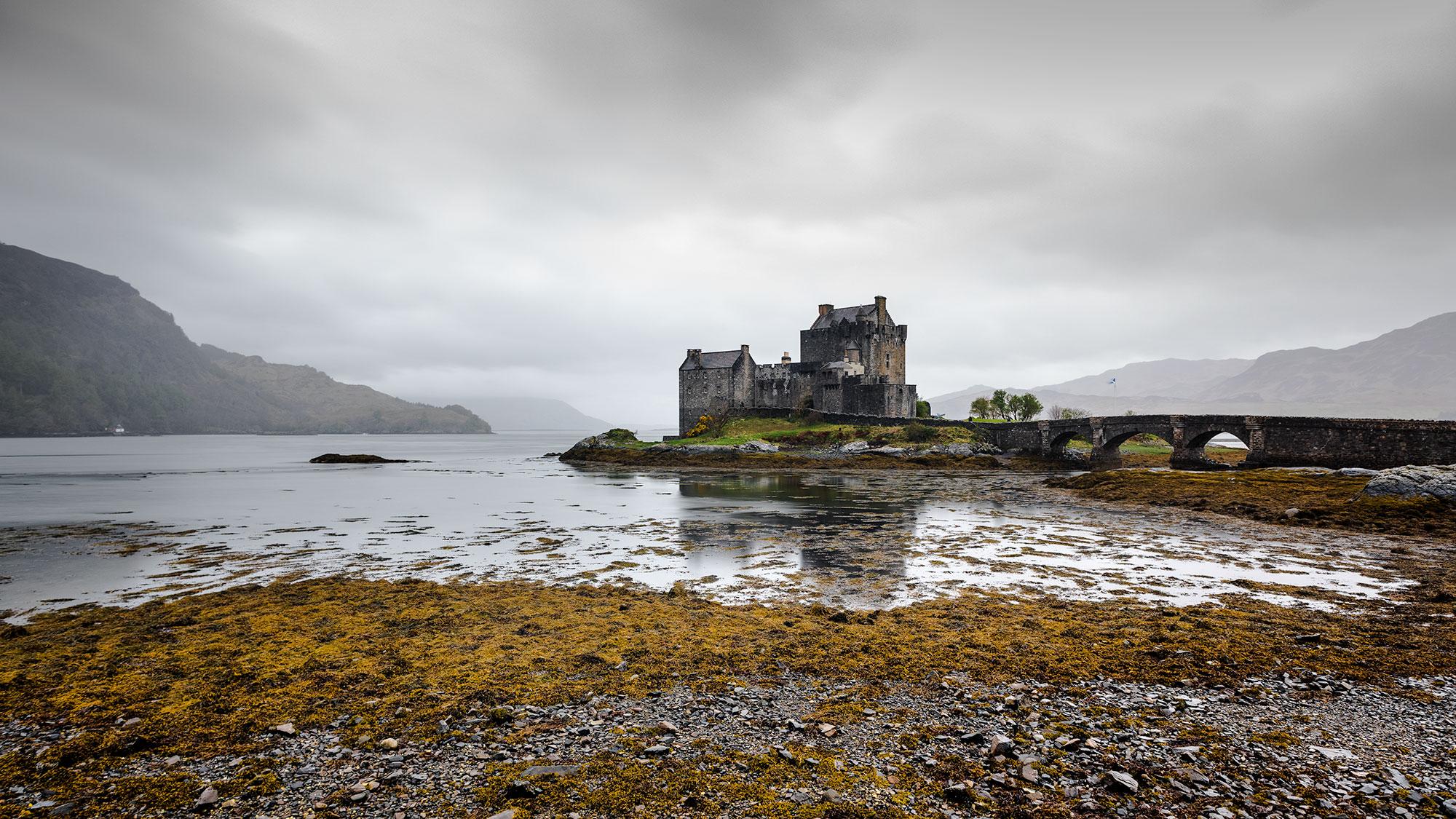 Fine art photography of Eilean Donan castle on Skye Island taken by landscape photographer Jennifer Esseiva.