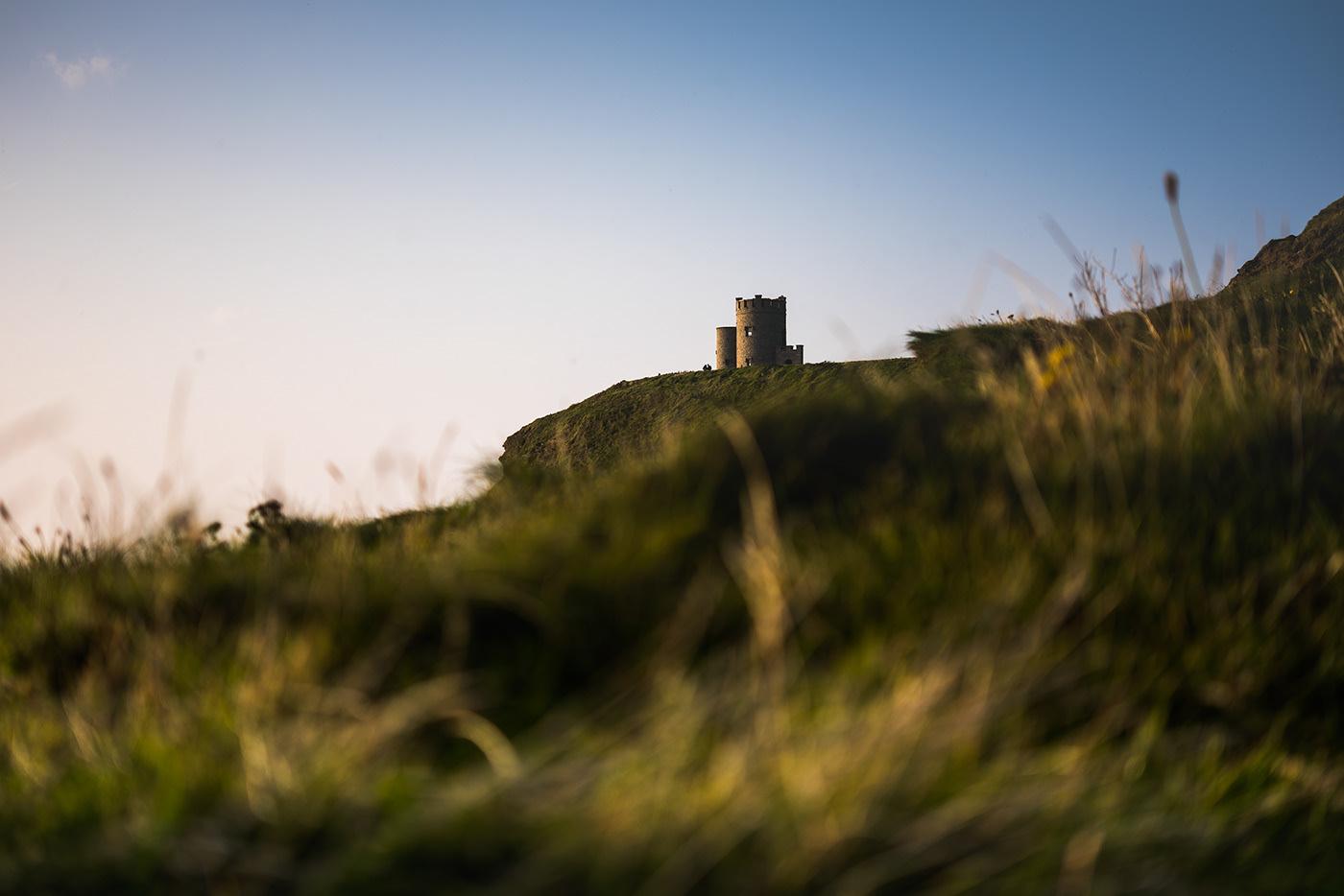 Photo du château aux falaises de Moher.