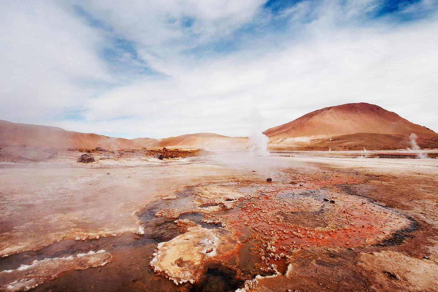 Photo des geysers d'El Tatio.