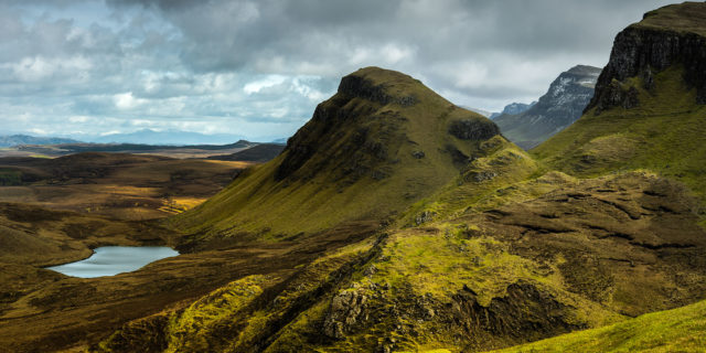 Pictures of Quiaring hills on Skye Island, Scotland.