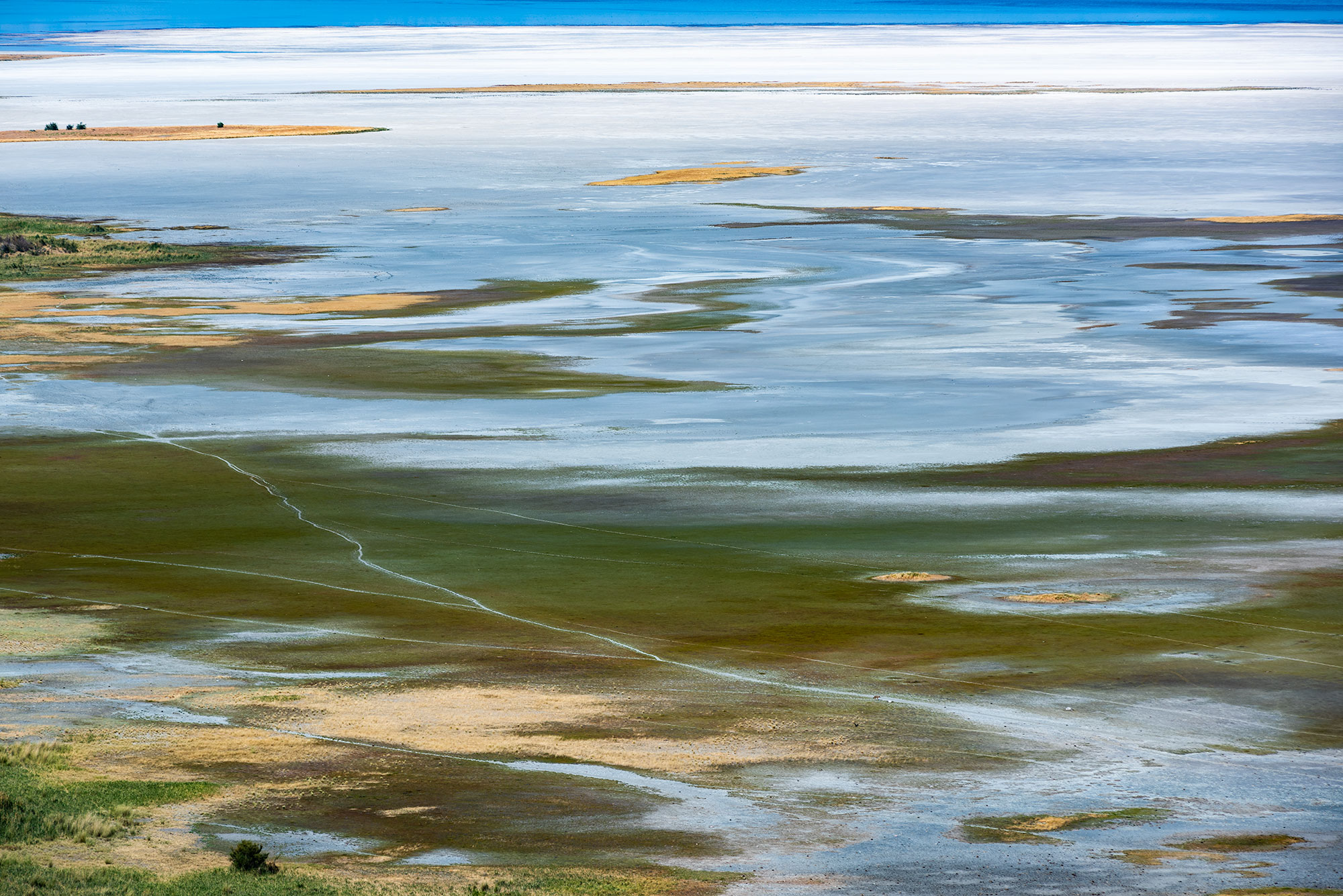 Landscape photography of Antelope Island located next to Salt Lake City in the US.