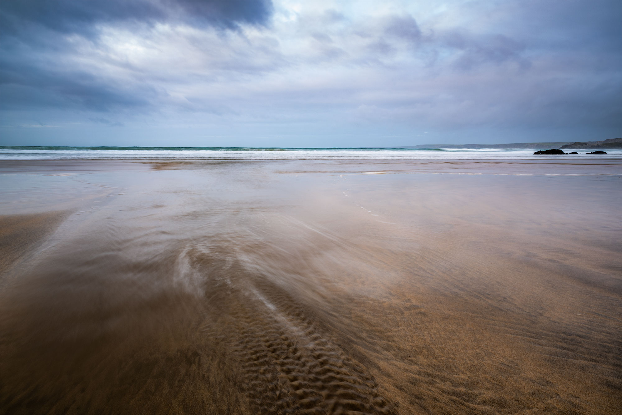 Newquay beach photography at sunset.