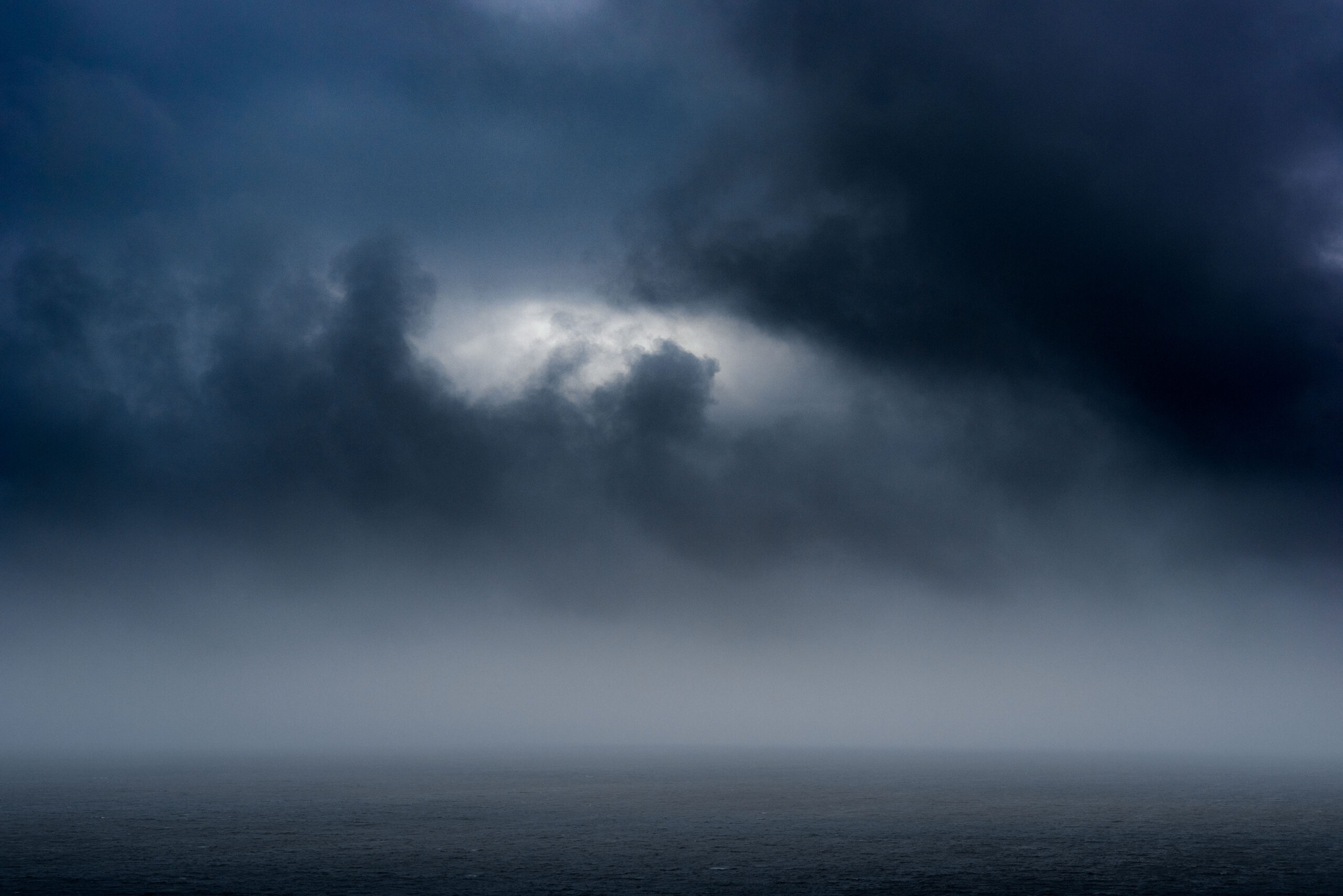 Cloudy and dramatic seascape from the english coast.