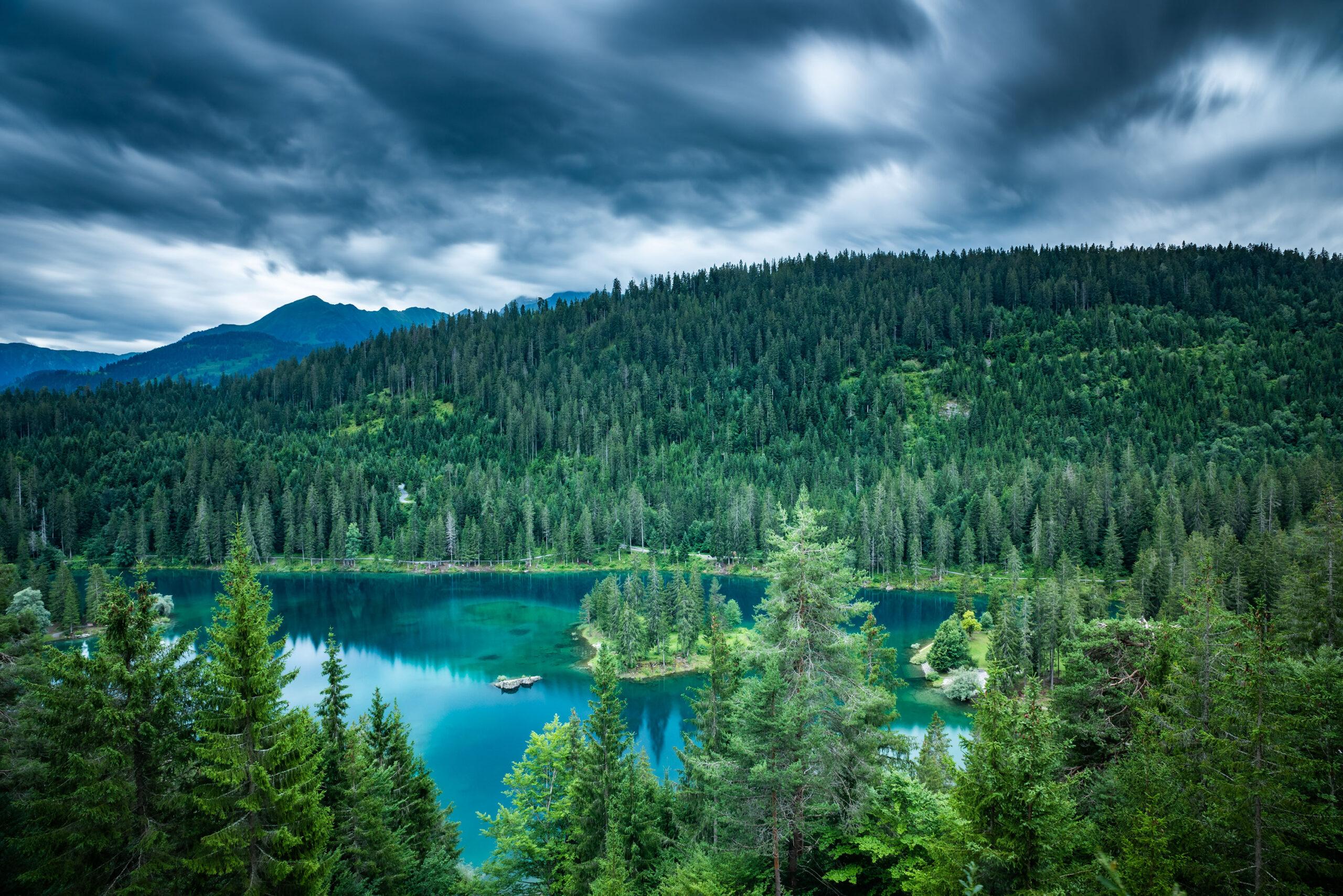 Fine art landscape photography of the Caumasee in Flims, Switzerland. Image by Jennifer Esseiva.