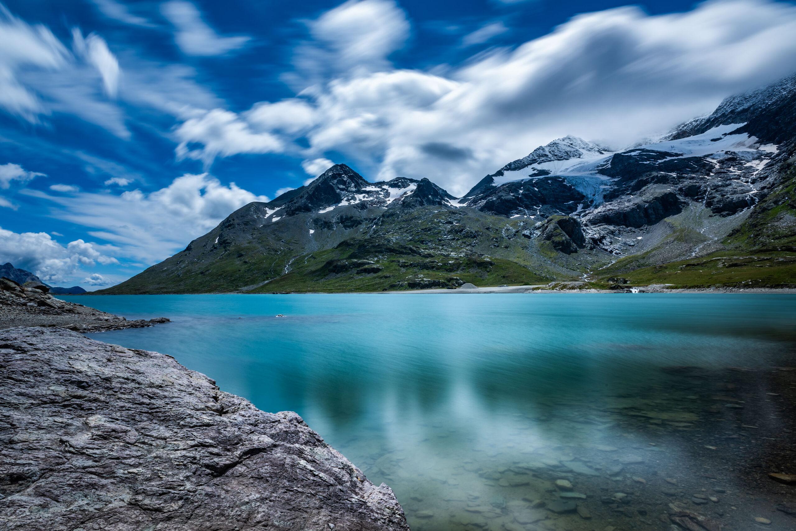 Fine art and landscape photography of the Lago Bianco in Graubünden, Switzerland. Image by Jennifer Esseiva.