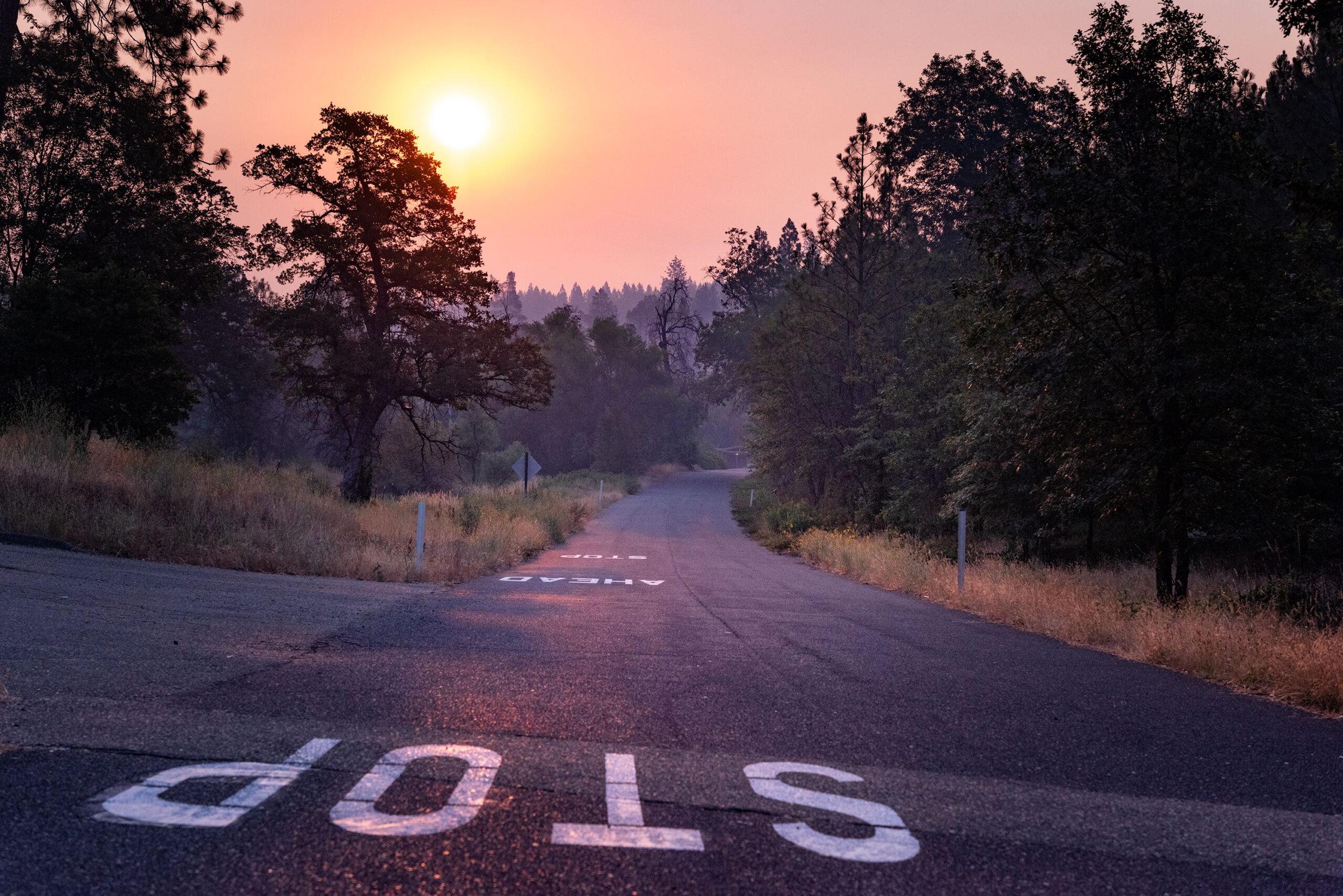 Sunrise photography on the road to Yosemite National Park taken by landscape photographer Jennifer Esseiva.