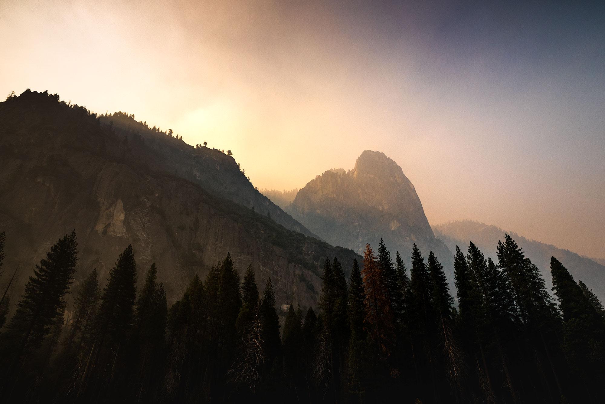 Sunset over El Capitain at Yosemite National Park taken by landscape photographer Jennifer Esseiva.