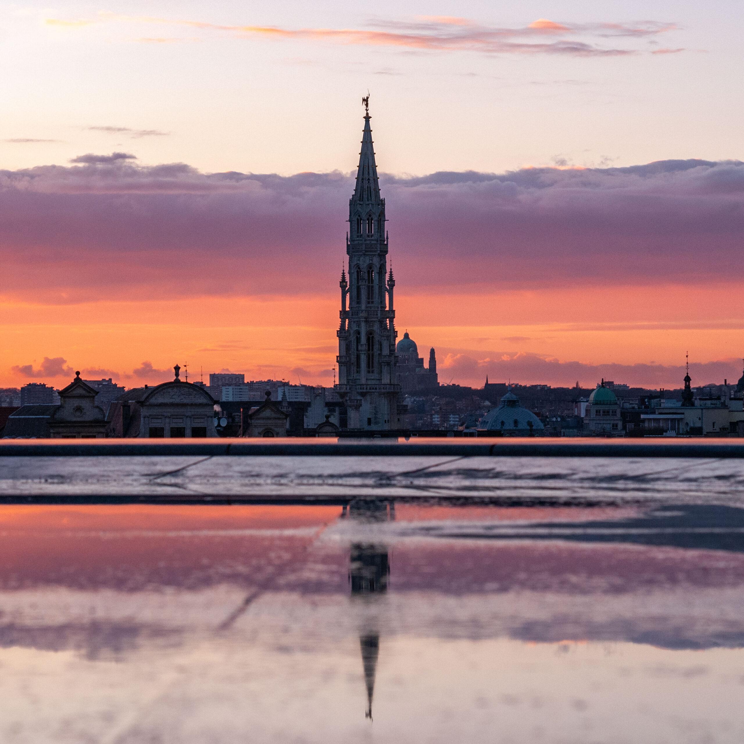 Sunset photography of Bruxelles taken by travel photographer Jennifer Esseiva.